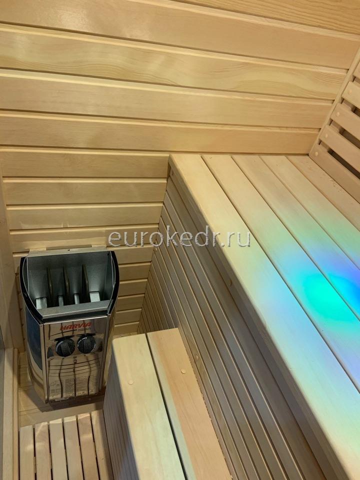 Двухместная финская сауна с электрической печью